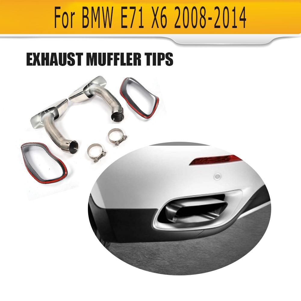 Embouts d'échappement de voiture embout d'échappement automatique pour BMW E71 X6 2008 2009 2010 2011 2012 embouts de silencieux arrière 2013