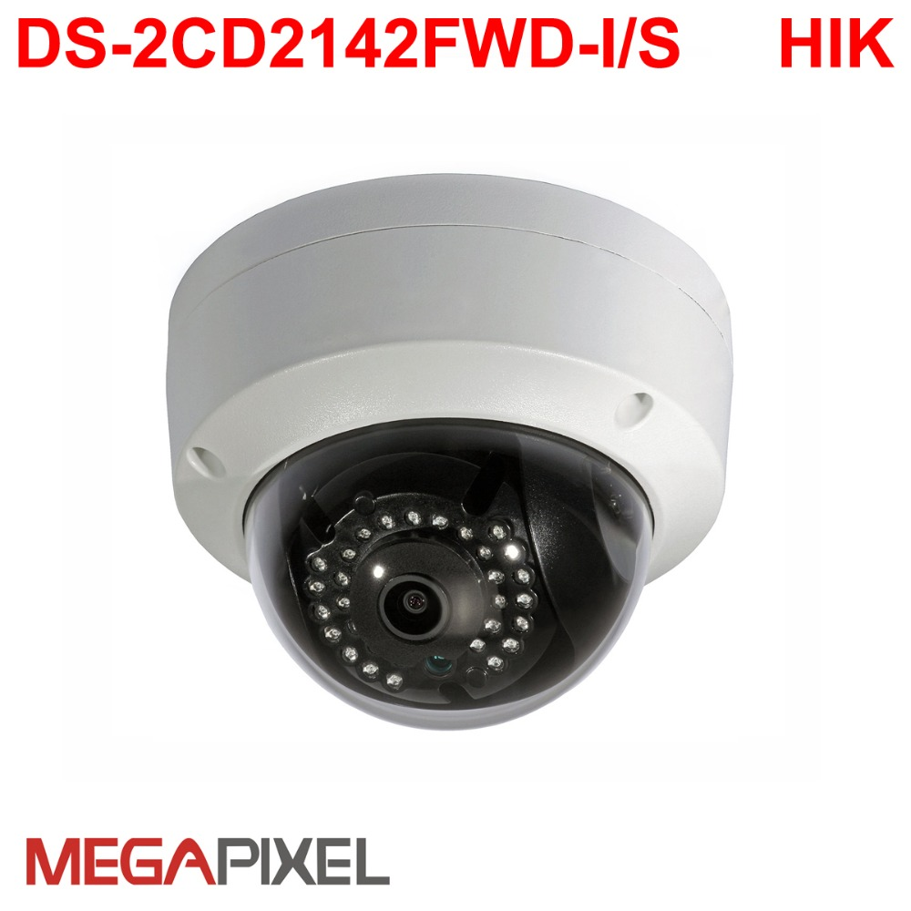 4mp IP Camera DS-2CD2142FWD-I POE WDR IP66 CCTV video surveillance security network HD1080p camera mini ir dome 128G camcorder 8mp ip camera cctv video surveillance security poe ds 2cd2085fwd is audio for hikvision dahua dvr hik connect ivm4200 camcorder