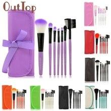 1 Set/7 PCS Wood Makeup Brush Set Makeup Cosmetic Tools Beauty Brushes M5253