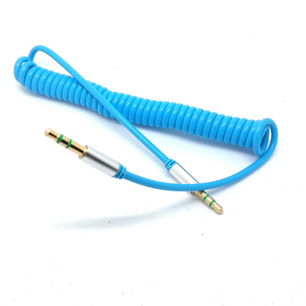 US $1.82 11% OFF|NEW 1m Spring Coiled 3.5mm Stereo Jack Spiral Spring on ethernet cable wiring, rca cable wiring, coax cable wiring, svga cable wiring, serial cable wiring, 3.5mm audio connector, parallel cable wiring, composite cable wiring,