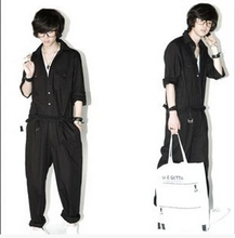 The new 2016 Japanese and Korean club personality pants, overalls Han edition slacks Tide men's clothing
