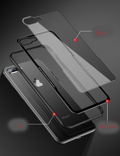 Luxury Tempered Glass Case Cover For iphone x 8 8 plus 7 7plus 6s
