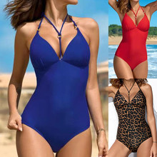 2019 Sexy Swimsuit Women Swimwear One Piece Bodysuit Push Up Monokini Halter Cross Bathing Suits Swim Suit Wear Female Beachwear brazil 2018 high neck sexy swimwear women one piece swimsuit cross back halter lace up swim wear bathing suits bodysuit monokini