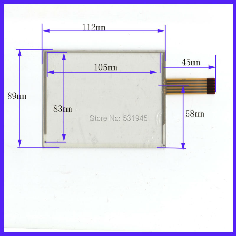 NEW 5 Inch Touch Screen 112mm*89mm 5 wire resistive USB touch panel overlay kit Free Shipping 112*89 oncompatible sensor glass