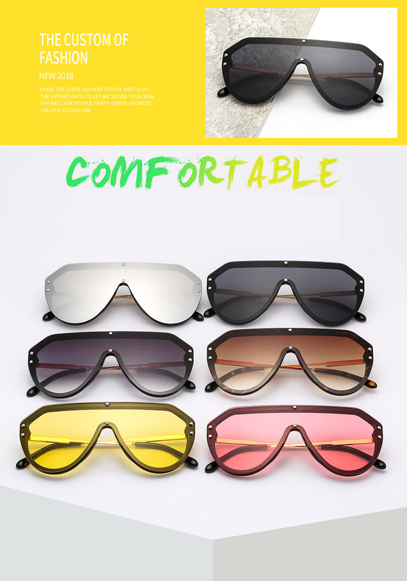 2019 New F Watermark One-piece Sunglasses PC Copy Film Men Women Sunglasses Girls Personality Colorful Fashion Wild Sun Glasse (3)