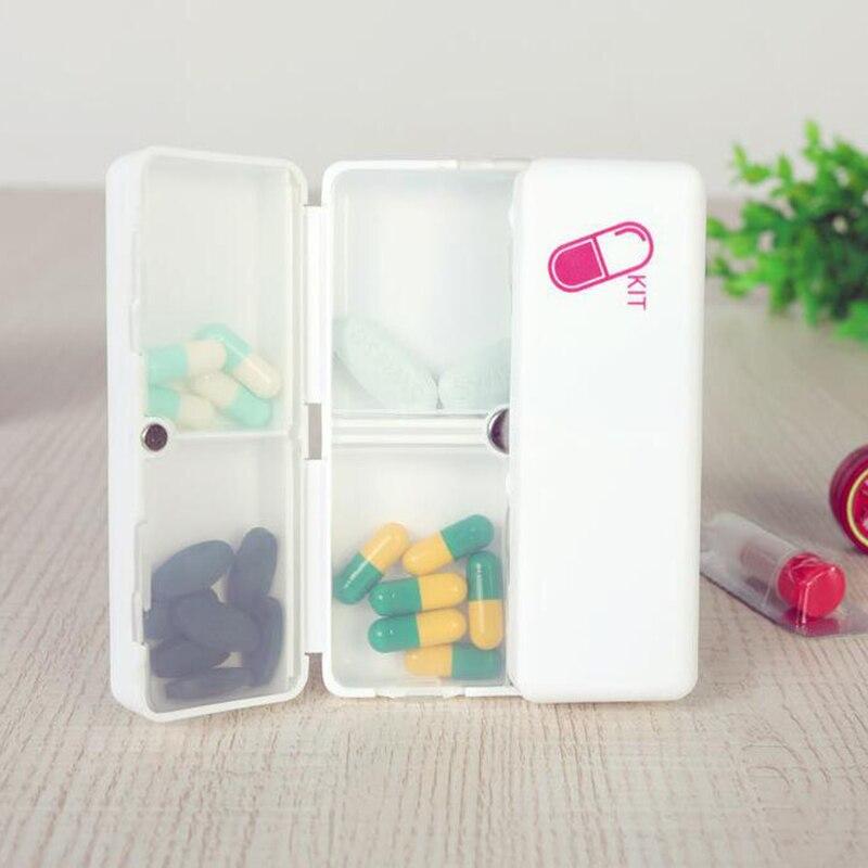 Портативный мини наркотиков Спецодежда медицинская уплотнения комплект pp наркотиков 7 сетки Box складная медицины коробка для хранения с ма...