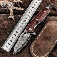 Дамасский стальной армейский высокопрочный нож для выживания в пустыне, нож для самообороны, нож для кемпинга, охотничьи инструменты для ул