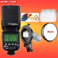 Godox TT685 TT685S 2.4G HSS 1/8000 s TTL Camera Flash + Bowens S-type Beugel voor Sony A77II A7RII A7R A99 A58 A6500 A6000 A6300