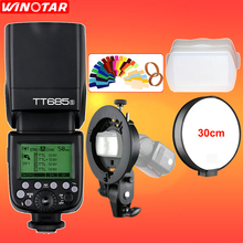 Godox TT685 TT685S 2,4G HSS 1/8000 s TTL Blitz + Bowens S-typ Halterung für Sony A77II A7RII A7R A99 A58 A6500 A6000 A6300