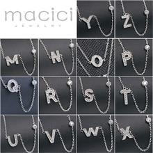 925 sterling silver best friends necklace female L-Z 26PCS Alphabet letter necklaces for women (DA622-1)