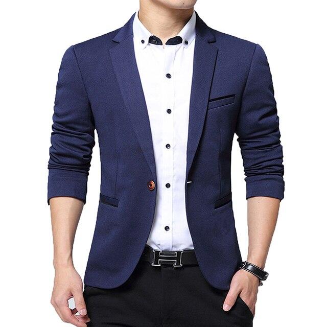 Slim Fit Autumn Mens Suit Jacket