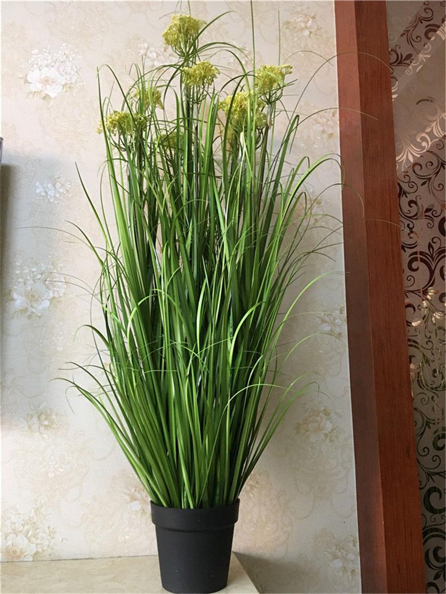 Wholesale and retail 4pc PVC Artificial Plastic Green Grass Decor Plant For Room Garden Patio 140cm