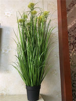 Wholesale and retail 4pc PVC Artificial Plastic Green Grass Decor Plant For Room Garden Patio 140cm