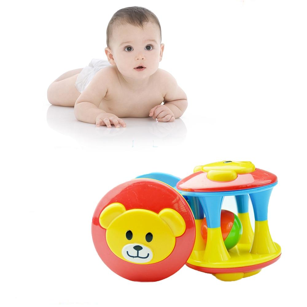 Hot Cute Handbells Musical Developmental Toy Bed Bells Kids Baby Toys Rattle +fun Small Jingle Bells Ball