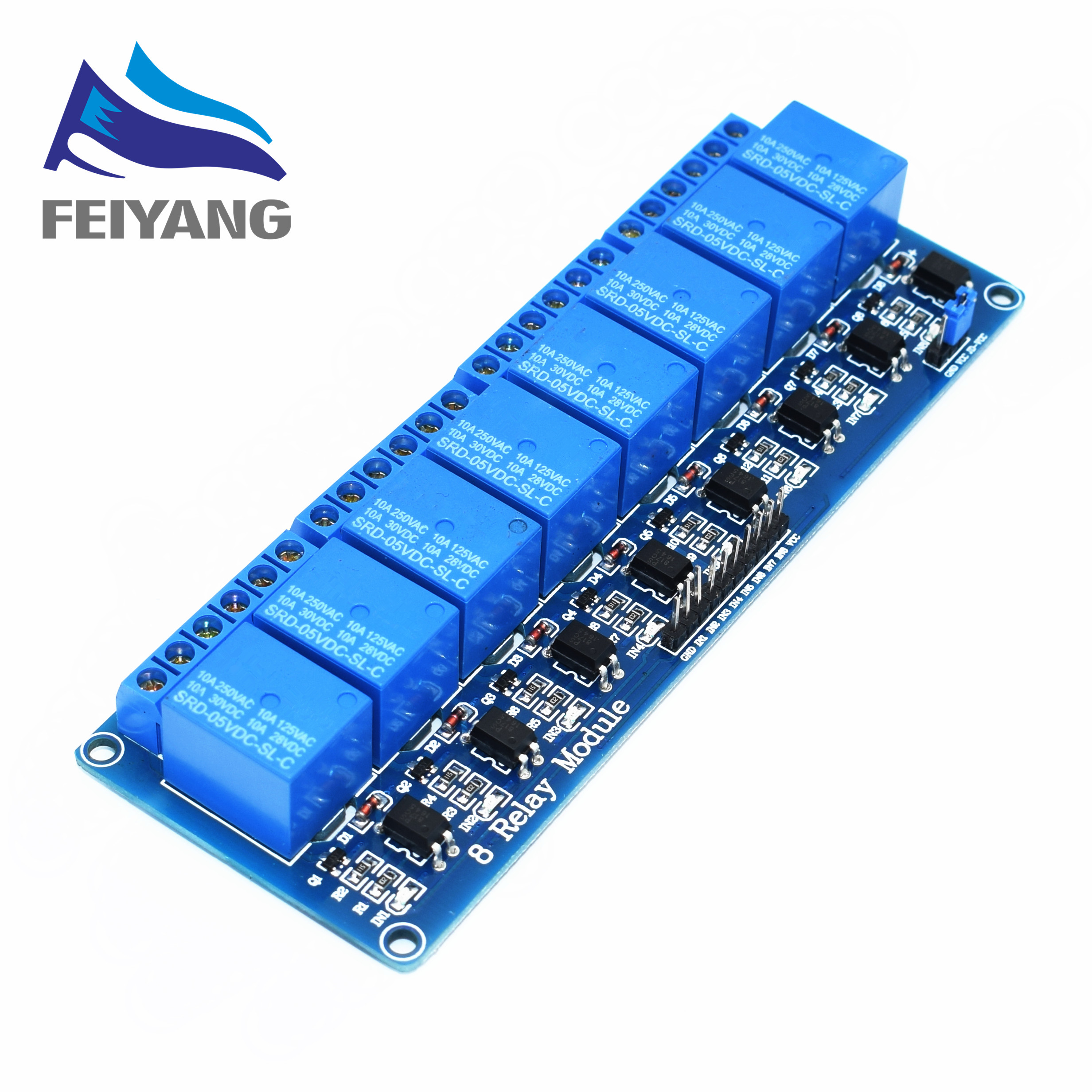 10PCS SAMIORE ROBOT 5V 8 Channel Relay Module Board PIC AVR MCU DSP ARM Electronic 100% new original