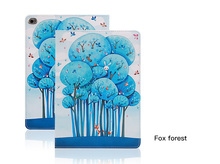 Tablet Protective Cases Painted  Flip smart stand TPU leather case for ipad 9.7 cute animals kitty Fairy forest Eiffel tower