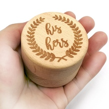 Personalized Wooden Ring Box Wedding Proposal Engagement, Holder Wedding Ring Bearer Jewelry Boxes