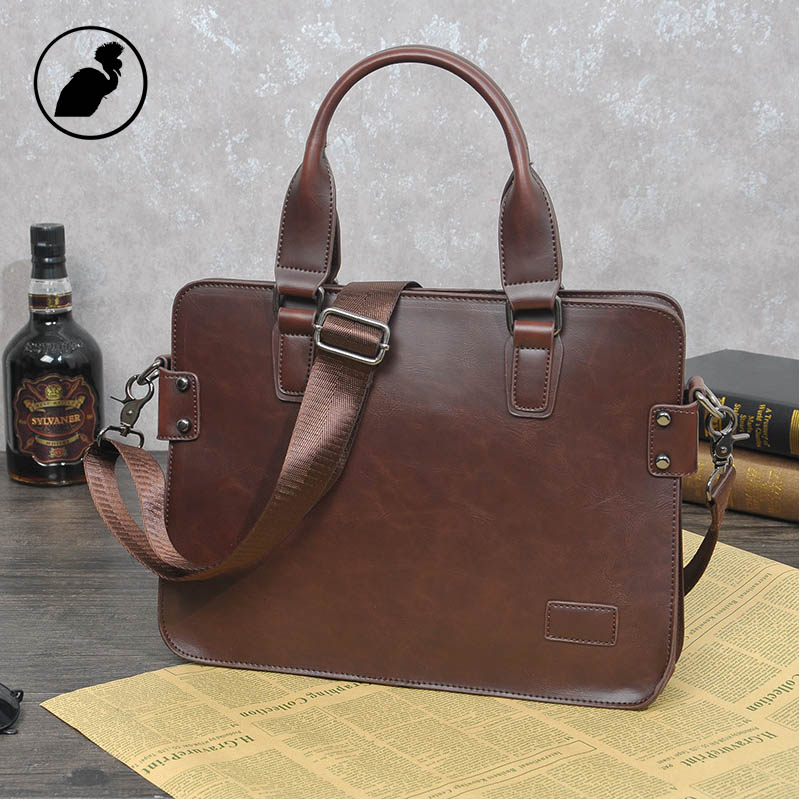 ETONWEAG Famous Brands Cow Leather Briefcases Men Messenger Bags Brown Vintage Business Briefcase Luxury Lawyer Laptop Bag new p kuone famous brands briefcases men luxury genuine cow leather 13 inch laptop bag high quality handbags business travel bag