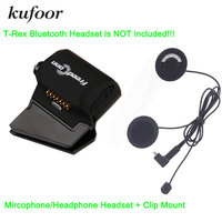 Free Shipping Soft Microphone Speaker Universal Clamp Mount For T Rex Motorcycle Bluetooth Helmet Interphone Headset
