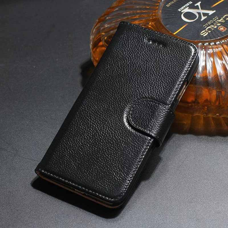Fundas más nuevas para iPhone 7 8 Funda de cuero genuino para iPhone 6 6S Plus Funda con tapa para iPhone 7 8 Plus Funda con billetera Bolsa Capa Fundas