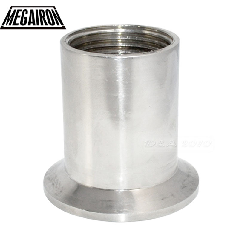 MEGAIRON 1 DN25 Sanitary Female Threaded Pipe Fittings with Ferrule Stainless Steel SS316 Tri Clamp Type megairon 2 dn50 sanitary female threaded ferrule pipe fittings tri clamp type stainless steel ss316