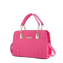Luxury Elegant PU Bag Women Designer Hard font b Handbag b font Simple Ladylike Shoulder Bag