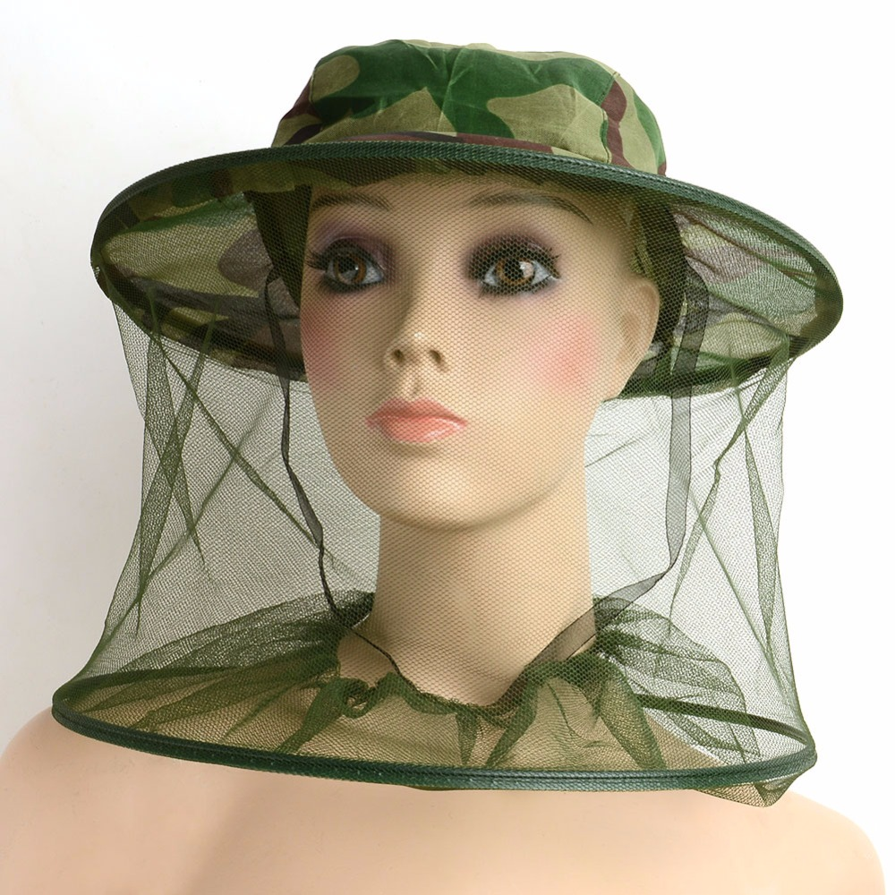 Bug Insect Mosquito Fly Resistance Net Mesh Face Fishing Outdoor Camping Hiking Hat Protector Cap Camouflage Sun