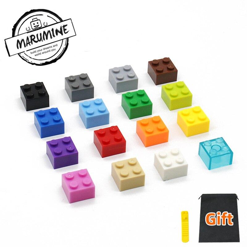 MARUMINE 2x2 Brick Parts Toys Tower Building Blocks MOC Classic Educational Bricks Set DIY Toys For Kids Children Playing