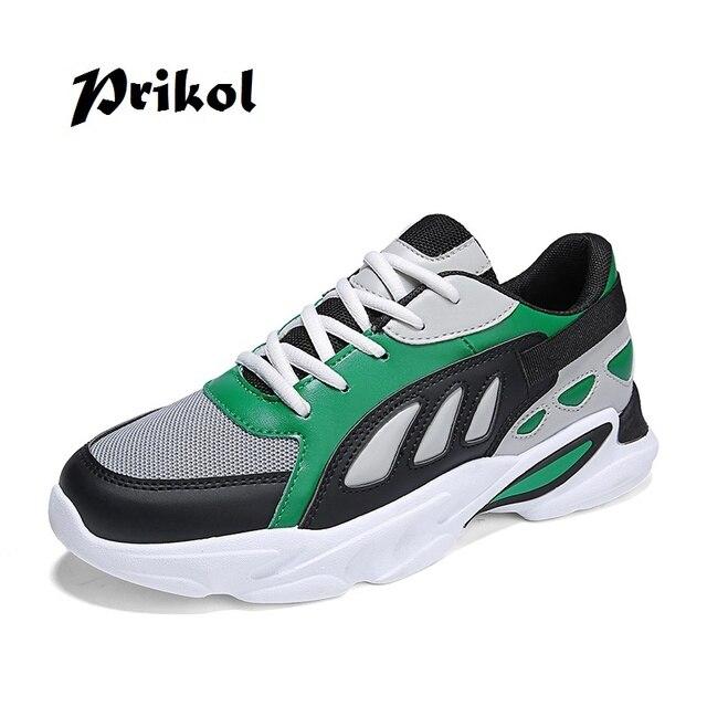 Prikol Luxury Brand Street Mixed Color Men Tennis Shoes Summer
