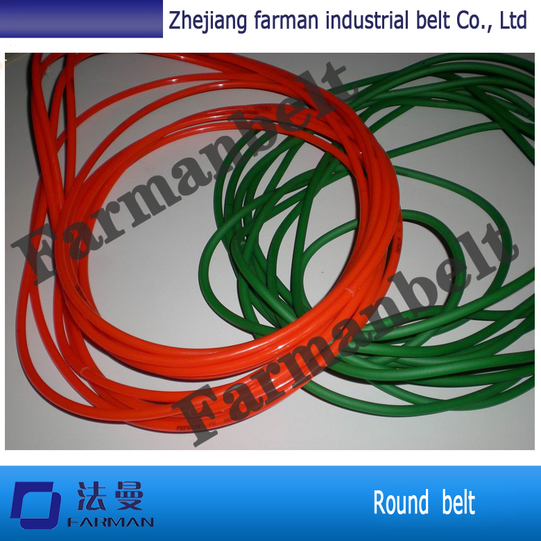 Green Orange Transparent PU round belt Polyurethane drive belt smooth and rough surface the karamazov brothers