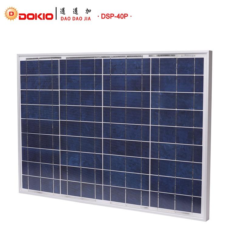 Baterias Solares top qualidade paneles solares china Capacidade Nominal : 40W