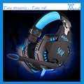 EACH G2100 Vibration Function Professional Gaming Headphone Games Headset with Mic Stereo Bass LED Light for PC