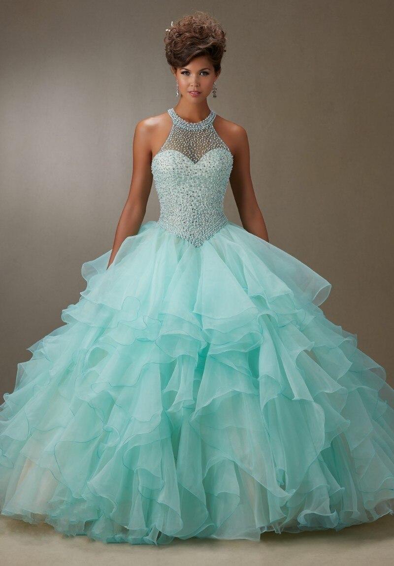 2016 пишет прибытие голый розовый бальное платье из органзы раффлед бисероплетение quinceanera платья конкурс 15 лет платье vestido де дебютантка