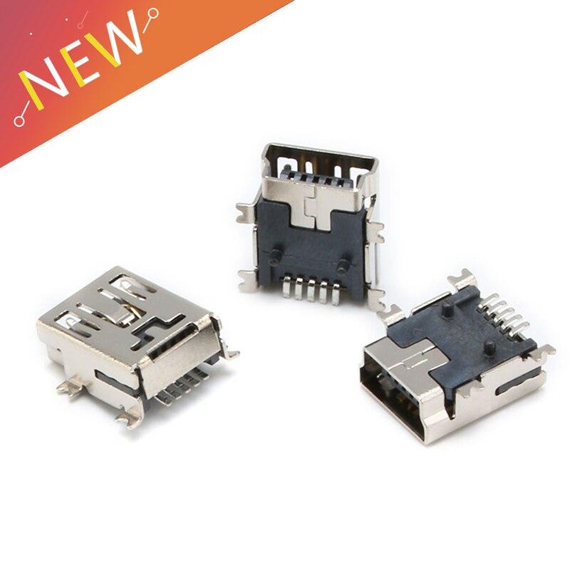 10PCS Mini USB SMD 5 Pin Female Mini B Socket Connector Plug10PCS Mini USB SMD 5 Pin Female Mini B Socket Connector Plug