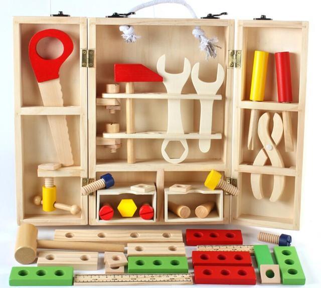 Holz Schreiner Werkzeug Box Set Holz werkbank Holz Werkstatt ...
