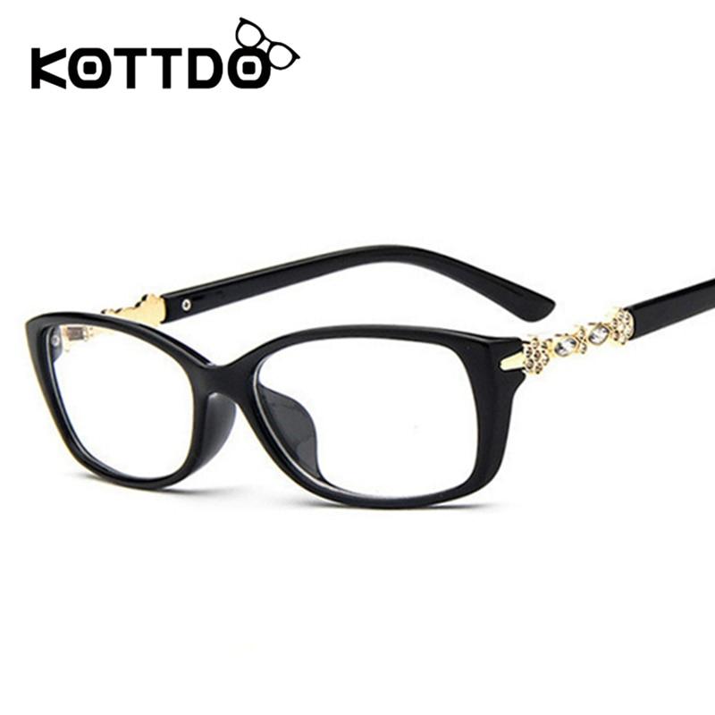 KOTTDO Fashion Retro Eye Occhiali da vista Occhiali da vista Vintage Diamond Glasses Occhiali da lettura da donna Oculos Femininos gafas