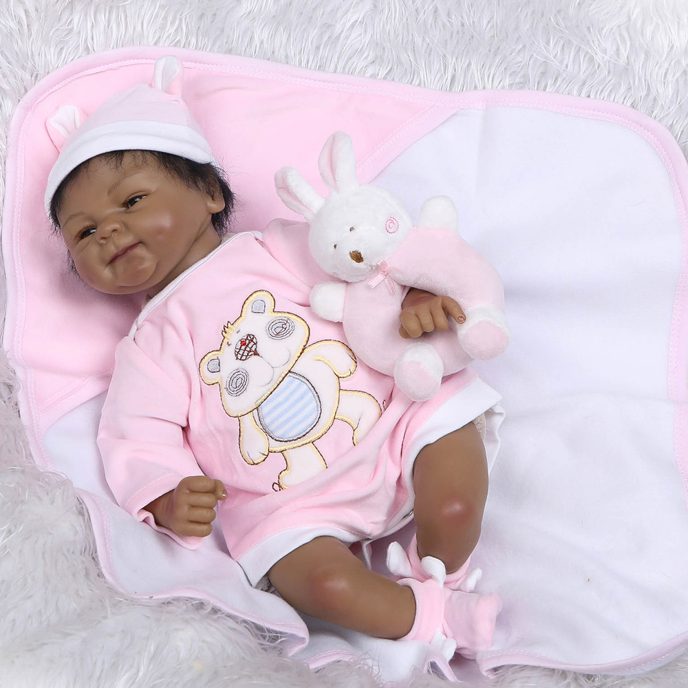 NPK brand Bebes reborn black dolls 1640cm silicone reborn baby dolls toys for children realistic newborn Bebes reborn bonecas