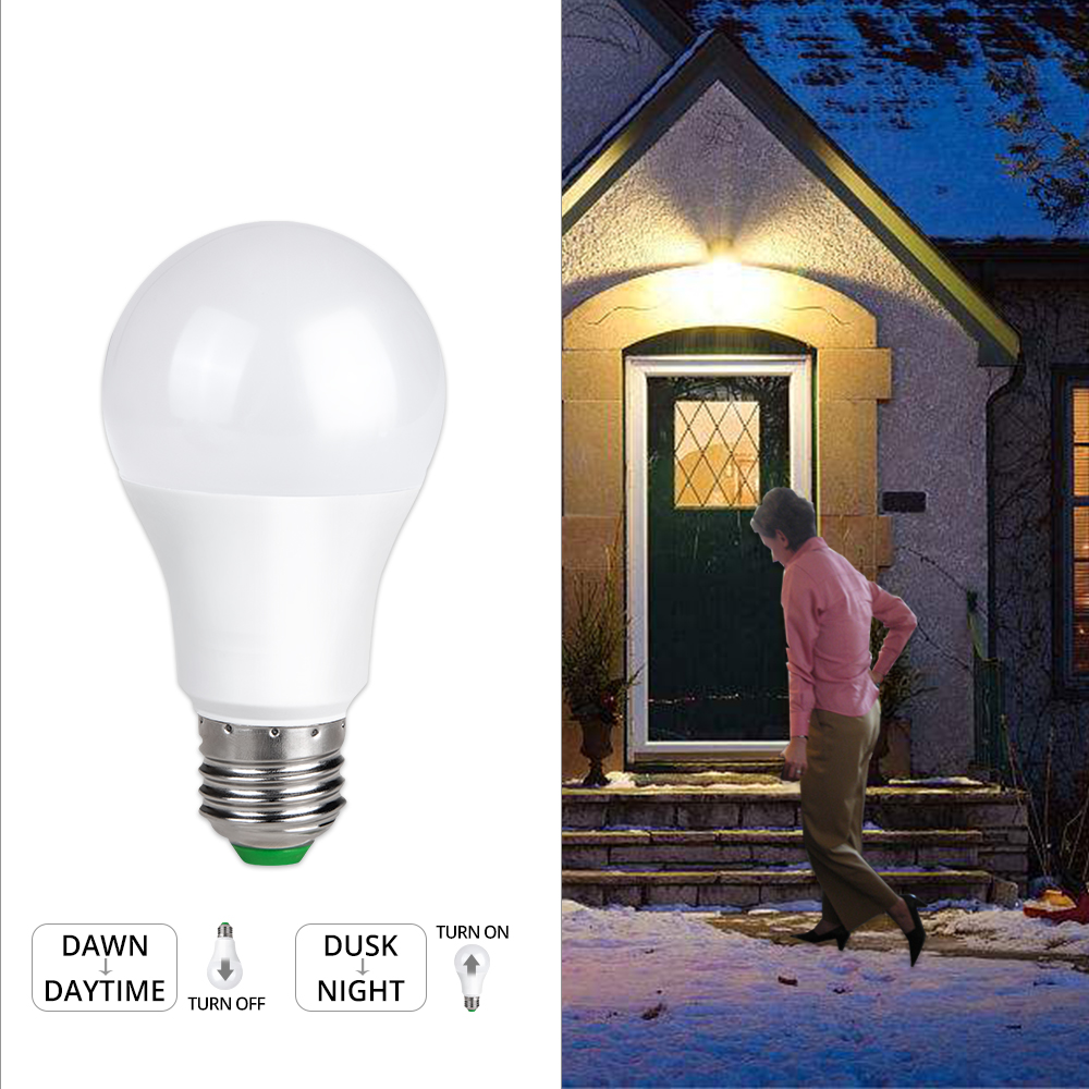 85-265V E27 LED Sensor Bulb Ampoule 10W 15W Dusk to Dawn Light B22 Globe Sensor Lamp Day Night Lampada For Porch Garage Hallway цена