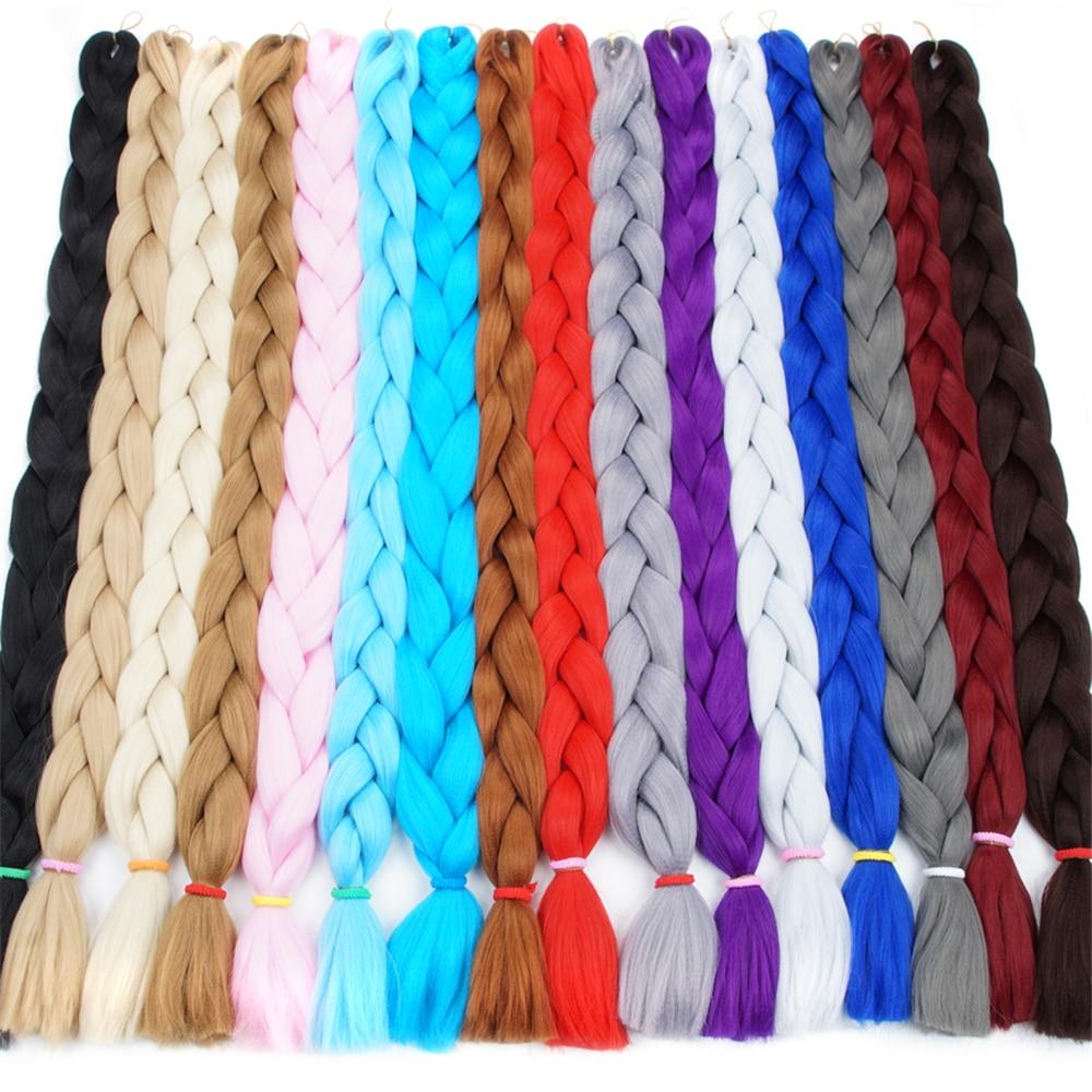 Элегантный Музы волос продукты 82 дюйма химическое Наращивание волос плетением Моноволокно гигантские косы нота косы