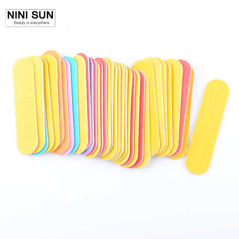 100 X Double Side Colorful Mini Nail File Nail Polish Tools Nagelvijl Manicure-Products Set Uv Gel 180/240 Sand Paper Wholesale