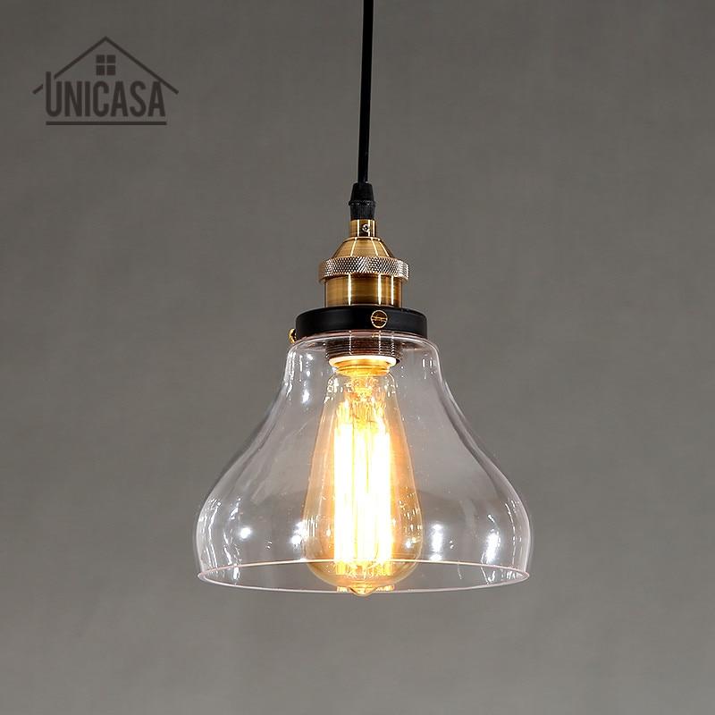 っCristal Claro moderna Lámparas colgantes Iluminación industrial ...