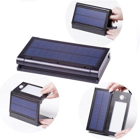 dcoo luzes solares 50 leds sensor de