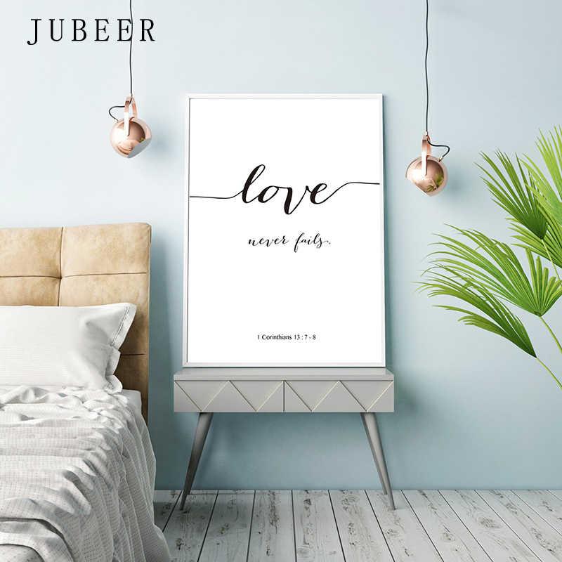 الكتاب المقدس الآية المشارك و يطبع الحب هو المريض الحب هو نوع جدار الفن طباعة المسيحية Quotes قماش اللوحة الملصقات على الحائط