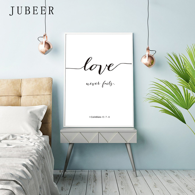 Bible Verse Poster and Prints Love Is Patient Love Is Kind Wall art Print Christian Quotes