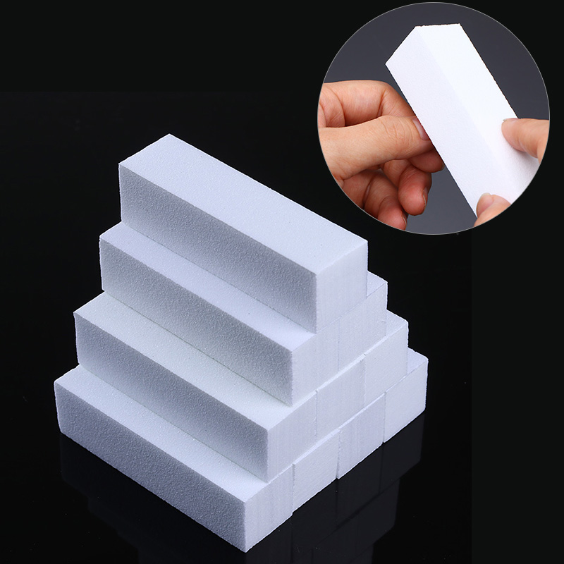 10Pcs Nail Buffer Set White Pink Green Nail Sponge Sanding Grinding Polishing Block File Nail Art Tools Nail Care Treatment Kits