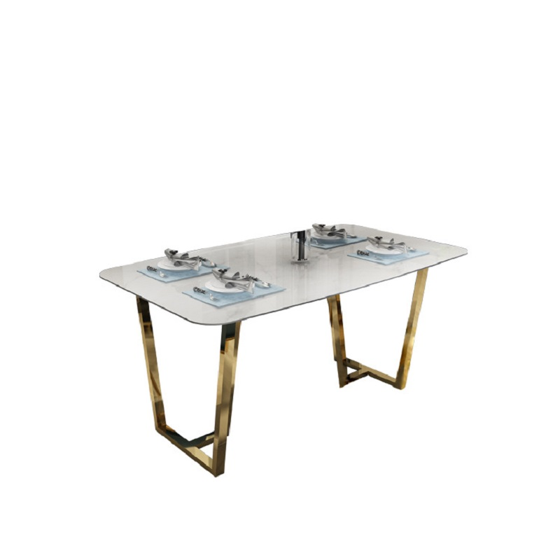 Fancy Royal Wedding Dining Table And Chair Sets With Stainless