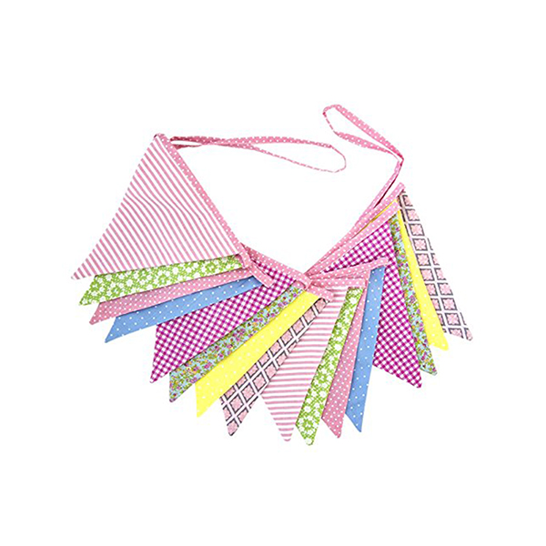 US $7 31 40% OFF|2 6M Triangle Cotton Flags Party Bunting Banners for  Decoration (Multicolor)-in Banners, Streamers & Confetti from Home & Garden  on