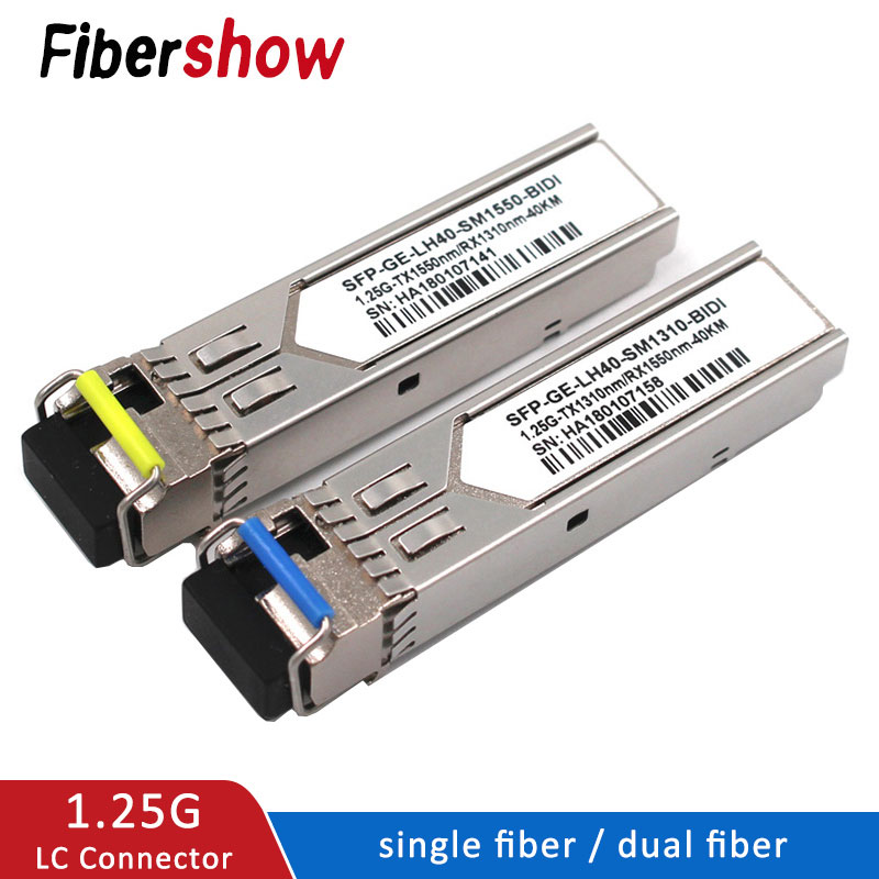 SFP Module 1.25G LC BiDi 1310nm/1550nm WDM Switch Compatible SFP Transceiver Module With Switch With DDM Function