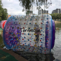 inflatable water roller,adult summer toys inflatable water walking roller, inflatable water rolling tube kids play