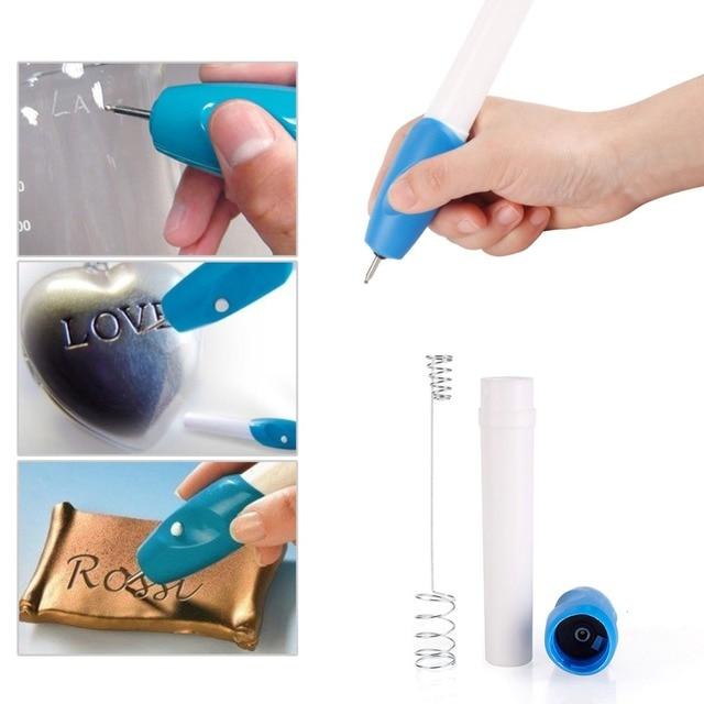 Portable Diy 1pc Mini New Hot Sale Electric Jewellery Metal Plastic Glass Glass Wood Engraver Pen Carve Tool Drop ship#236579
